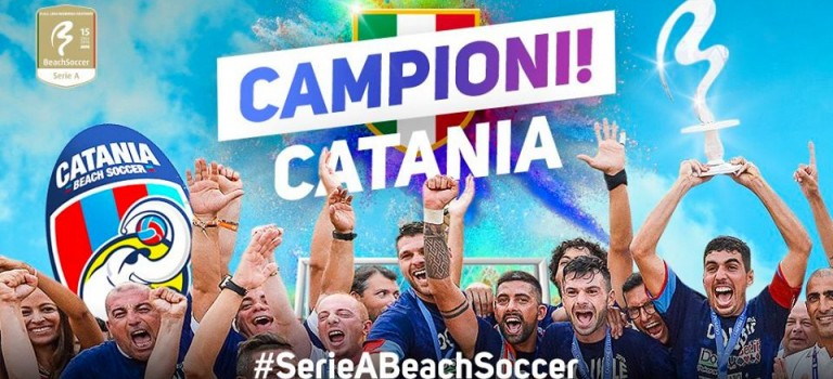 BEACH SOCCER, FESTA CATANIA: CAMPIONI D'ITALIA !